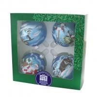 Набор ЁЛОЧКА елочные шары Охота (4 сюжета, д.75 мм, подарочная коробка)