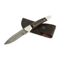 Нож складной НОЖИ СМ Снайпер дамасская сталь дерево-венге