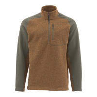 Пуловер SIMMS Rivershed Sweater Quarter Zip цвет Saddle Brown