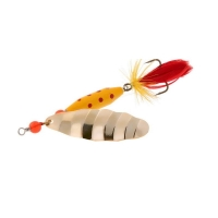 gold yellow / red fly