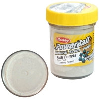 Паста BERKLEY PowerBait Natural Scent Glitter TroutBait аттр. Пелец цв. Белый