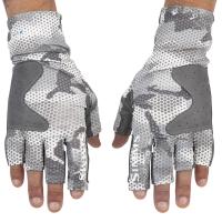 Перчатки SIMMS Solarflex Guide Glove цв. Hex Flo Camo Steel превью 2