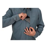 Рубашка SIMMS Bugstopper Intruder BiComp LS Shirt '21 цвет Storm превью 3
