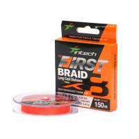 Плетенка INTECH First Braid X8 150 м цв. оранжевый 0,128 мм