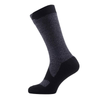 Носки SEALSKINZ Walking Thin Mid Sock цвет Dark Grey Marl / Black