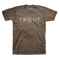 Футболка SIMMS Reel Trout T-Shirt цвет Brown Heather