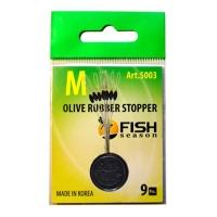 Стопор резиновый FISH SEASON 5003 Olive Rubber Stopper Оливка р.SS (9 шт.)