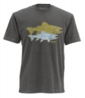 Футболка SIMMS Tightlines Trout SS T-S цвет Earth Heather