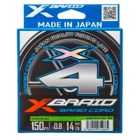 Плетенка YGK X-Braid Cord X4 150 м #0.8