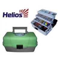 Ящик рыболовный HELIOS трехполочный зеленый HELIOS (Тонар)
