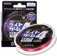 Плетенка GOSEN Light Game PE X4 цв. розовый #0.2