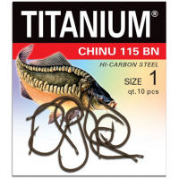 Крючок одинарный ROBINSON Titanium Карп № 1/0 (12 шт.)