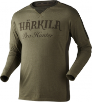 Футболка HARKILA Pro Hunter LS T-shirt цвет Lake Green / Shadow Brown