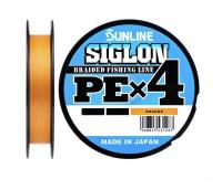 Плетенка SUNLINE Siglon PEx4 150 м цв. оранжевый 0,108 мм
