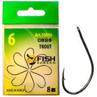 Крючок одинарный FISH SEASON Trout с большим ухом № 3 (8 шт.)