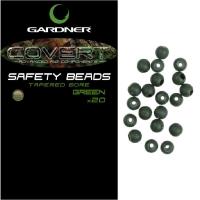 Бусина резиновая GARDNER Covert Safety Beads 4 мм. (20 шт.) цв. brown