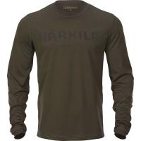 Футболка HARKILA Mountain Hunter L/S T-Shirt цвет Hunting Green / Shadow Brown