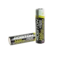 Аккумулятор ROBITON 3.4/Li18650 3400мАч с защитой (NCR18650B) BL1