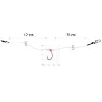 Оснастка спиннинговая DIXXON Drop Shot (40 см, кр. № 1/0, тест 16 кг)