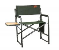 Кресло CAMPING WORLD Mister с боковым откидным столиком цвет зеленый