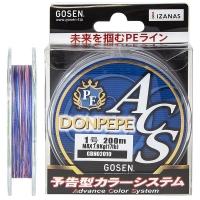 Плетенка GOSEN 4PE Donpepe ACS 200 м цв. Синий № 1