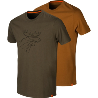 Футболка HARKILA Graphic T-Shirt (2 шт.) цвет Willow green / Rustique clay