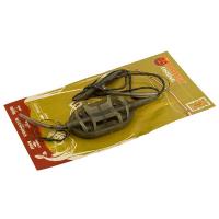 Оснастка карповая ORANGE #52 Spider Flat Method Leadcore, для бойла 40 г
