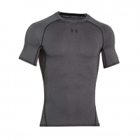 Футболка UNDER ARMOUR HeatGear Armour SS цвет Carbon Heather / Black