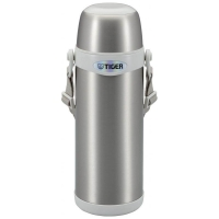 Термос TIGER MBI-A080 Clear Stainless White 0,8 л цв. серебристый с белым
