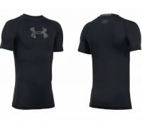 Футболка UNDER ARMOUR HeatGear Armour Compression LS New цвет Black / Halo Gray