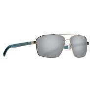 Очки поляризационные COSTA DEL MAR Flagler 580P р. L цв. Brushed Silver цв. ст. Gray Silver Mirror
