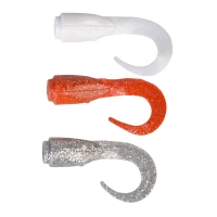 Приманка SAVAGE GEAR 3D LB Hard Eel Short Tails 17 (3 шт.) цв. Orange/ Silver/ White