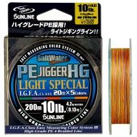 Плетенка SUNLINE PE Jigger HG Light Special 200 м цв. Многоцветный 0,128 м