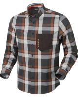Рубашка HARKILA Amlet LS Shirt цвет Spice check