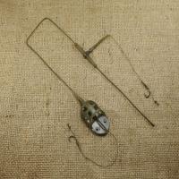 Оснастка карповая ORANGE #56 Hand Flat Method Leadcore, для бойла 40 г