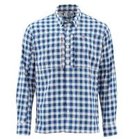 Рубашка SIMMS Bugstopper LS Shirt цвет Plaid Admiral Blue