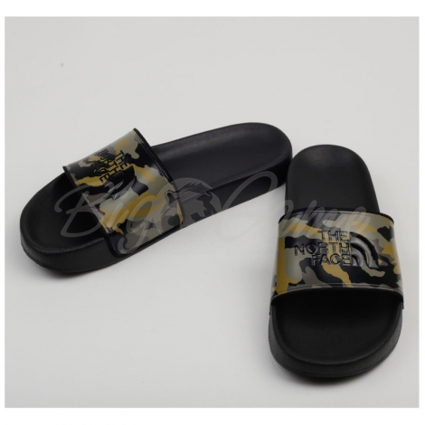 Пантолеты THE NORTH FACE Base Camp Slides II цвет Burnt Olive Green Woods Camo / Black фото 1