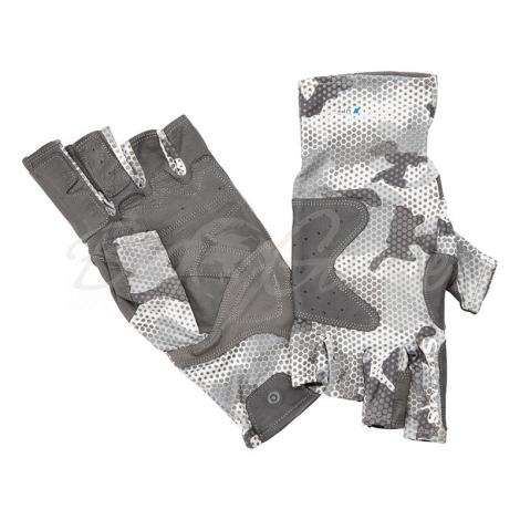 Перчатки SIMMS Solarflex Guide Glove цв. Hex Flo Camo Steel фото 1