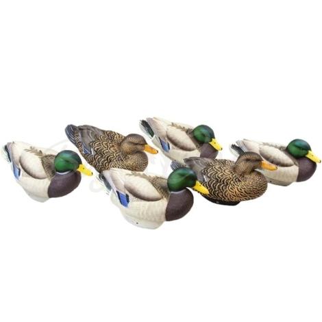 Комплект LIFETIME DECOYS New Flex Float Mallards муляжи утки (6 шт.) фото 1