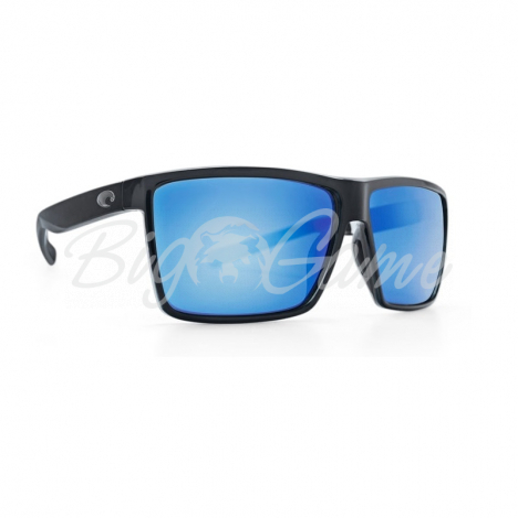 Очки COSTA DEL MAR Rincon 580 GLS р. XL цв. Shiny Black цв. ст. Blue Mirror фото 1