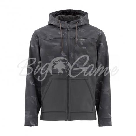 Куртка SIMMS Rogue Hoody цвет Hex Camo Carbon 12654-007-30 фото 1