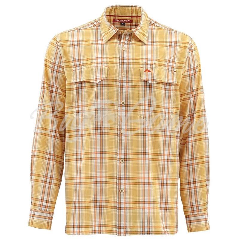 58a09e2bd41 Купить рубашку SIMMS Legend Shirt цвет Bright Yellow Plaid в ...