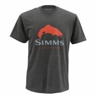 Футболка SIMMS Trout Logo SS T цвет Charcoal Heather