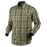 Рубашка SEELAND Gibson shirt цвет Forest green check