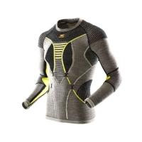 Термофутболка X-BIONIC Apani Merino By Man Uw Shirt Long Sl R цвет Черный / Серый / Желтый