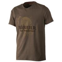 Футболка HARKILA Odin Wild Boar T-shirt цвет Demitasse Brown