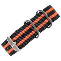 Ремешок LUMINOX нейлоновый с оранжевыми полосами для часов 3950 ш. 23 мм цв. черный