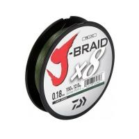 Плетенка DAIWA J-Braid X8 150 м цв. зеленый 0,06 мм
