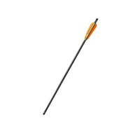 """Стрела POE LANG для арбалета дл. 20"""", резин. оперение 4"""", ал. инсерт, спорт. наконечник, цв. черный"""