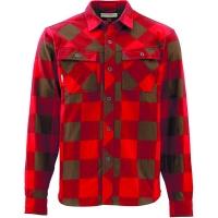 Рубашка SIMMS Heavy Weight Flannel цвет Ruby Plaid